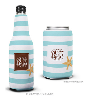 Stripe Starfish Koozies