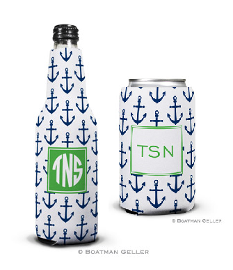 Anchors Navy Koozies