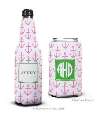 Anchors Pink Koozies