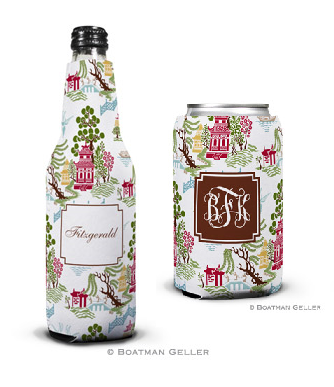 Chinoiserie Autumn Koozies