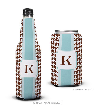 Alex Houndstooth Chocolate Koozies