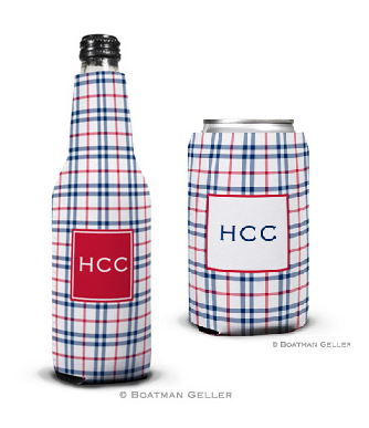 Miller Check Navy & Red Koozies