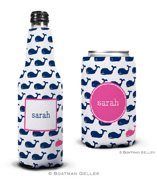Whale Repeat Navy Koozies