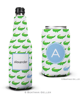 Alligator Repeat Blue Koozies