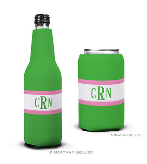 Stripe Kelly & Bubblegum Koozies