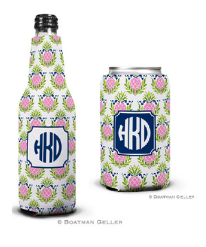 Pineapple Repeat Pink Koozies