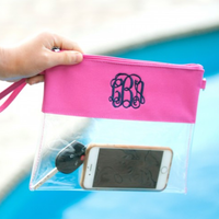 Monogrammed Clear Purses