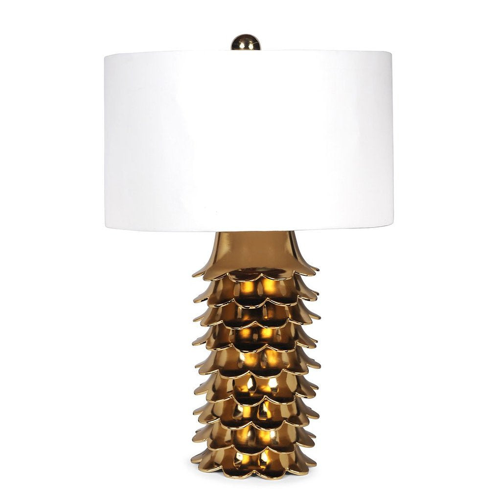 Color Block Colony Lamp - Off-White / Brass