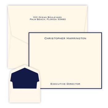 Executive - Raised Ink Flat Correspondence Card
