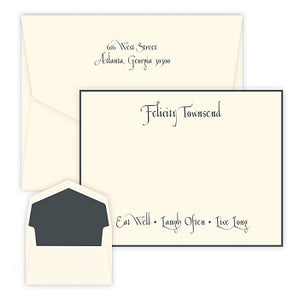 Casual - Raised Ink Flat Correspondence Card