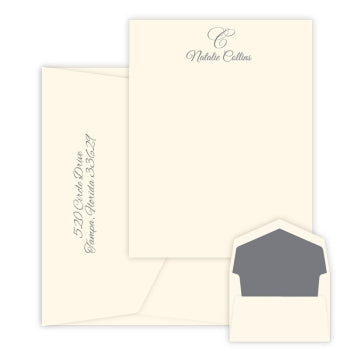 Waterton - Raised Ink Flat Correspondence Card