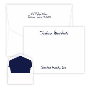 Anthony Studio - Raised Ink Flat Correspondence Card