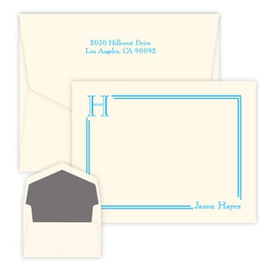 South Hampton Initial - Raised Ink Flat Correspondence Card