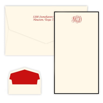 Classic Monogram Raised Ink Flat Chesapeake Card