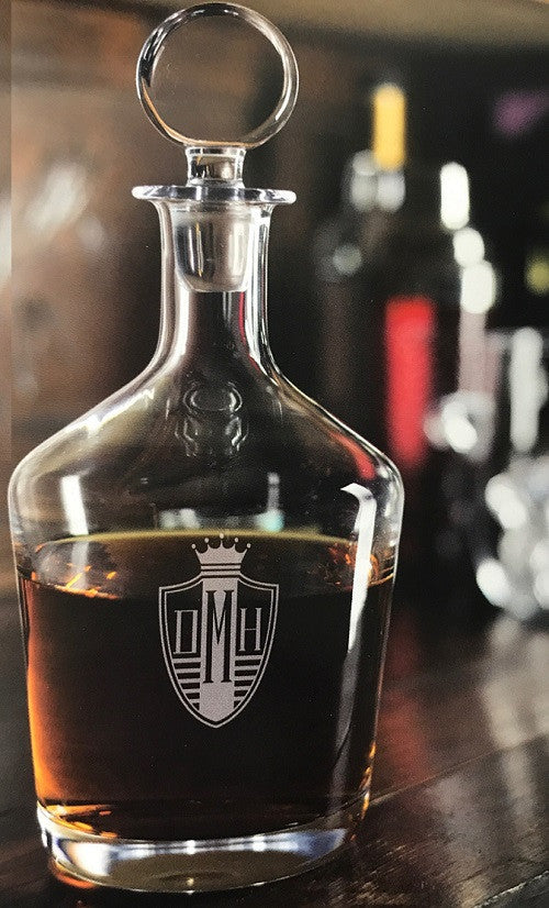 Monogrammed Craft Decanter