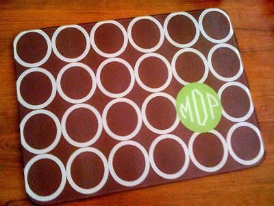 Monogrammed Brown Mod Circle Glass Cutting Board