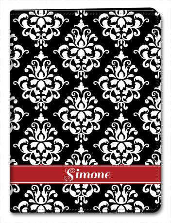 Personalized Damask iPad 2/3/4 Folio