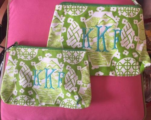 Monogrammed Travel Bag - Canton Pattern