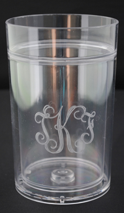 Monogrammed Acrylic 14 oz. Insulated Glass