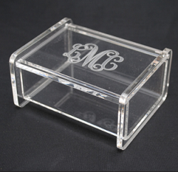 Monogrammed Acrylic Small Hinged Box