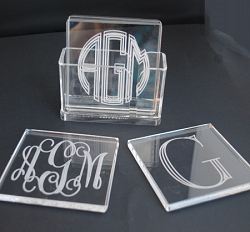 Monogrammed Square Coasters