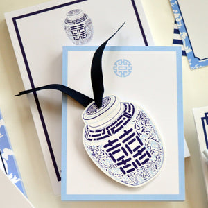 Double Happiness Jar Die Cut Tags