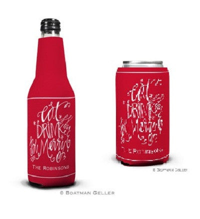 Eat Drink and be Merry Koozies