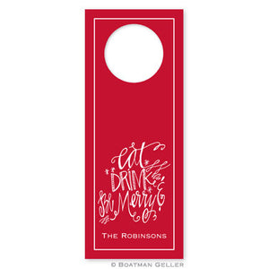 Eat Drink and be Merry Wine Tags