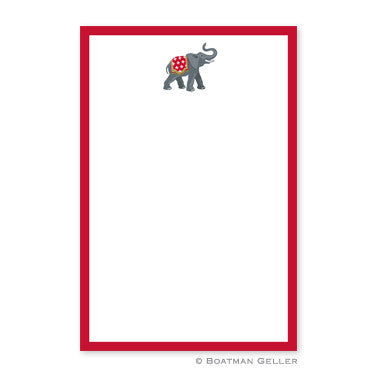 Elephant Holiday Notepad