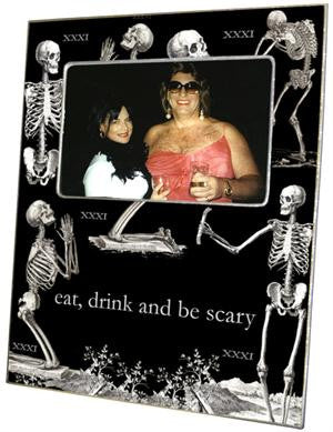 Halloween Skeleton Picture Frame