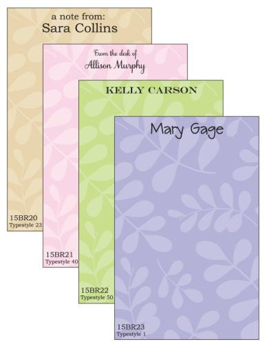 Personalized Falling Leaves Notepad Collection