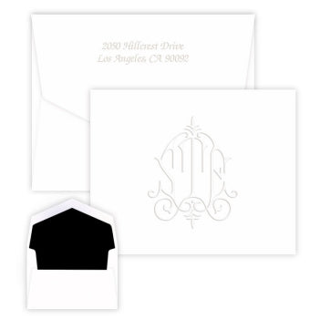 Whitlock Monogram Embossed Folded Notes