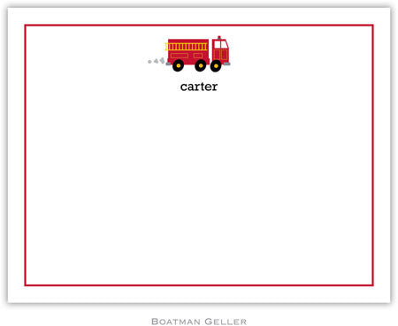 Fire Truck Flat Notecard