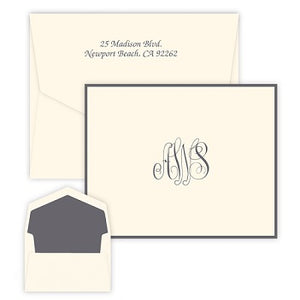 Classic Monogram Raised Ink Folded Notes