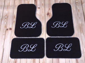 Monogrammed Car Mats - Front Wheel Drive 2 or 4 piece set