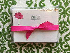 Personalized Gerber Daisy Flat Notes