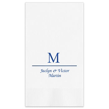 Initial and Name Guest Towel - Foil-Pressed