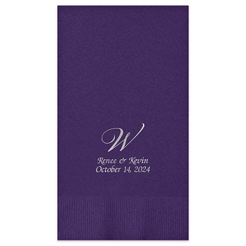 Serenity Guest Towel - Foil-Pressed
