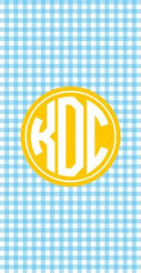 Personalized Gingham Beach Towel