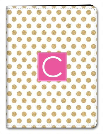 Personalized Glam Dots iPad 2/3/4 Folio