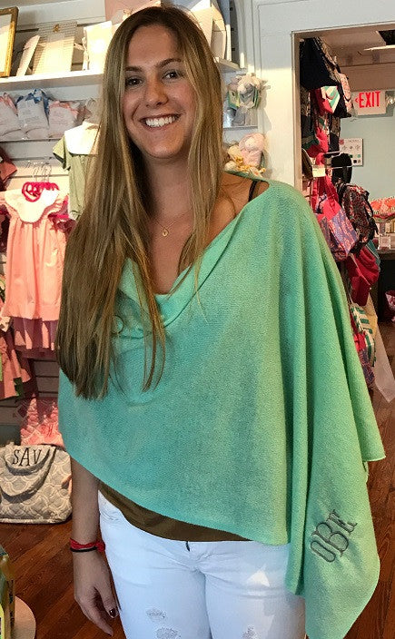 Cashmere Poncho with Monogram