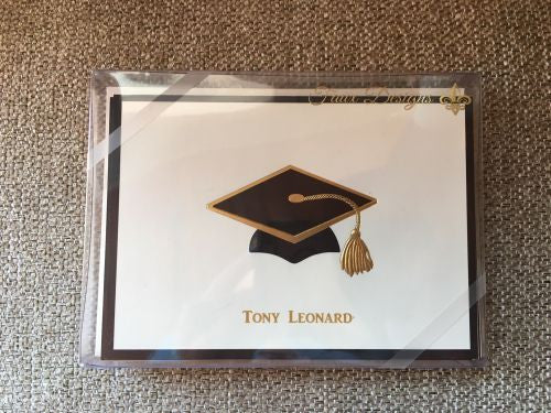 Personalized Graduation Cap Folded Notes