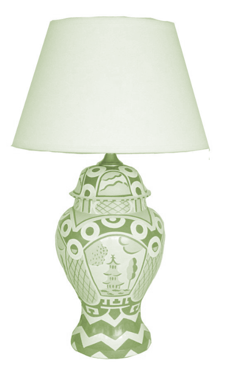 Green Summer Palace Lamp