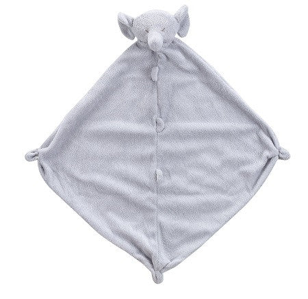 Personalized Grey Elephant Blankie