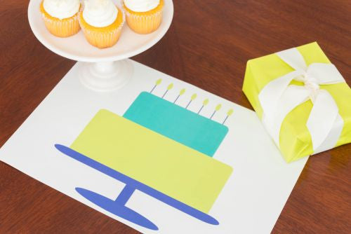 Happy Birthday Citron Paper Placemats