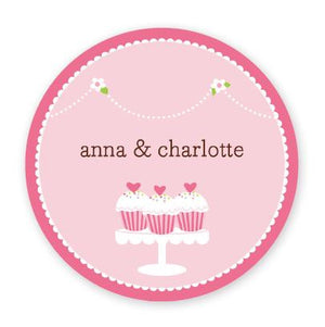 Personalized Heart Cupcakes Plate