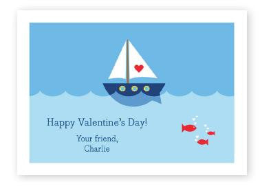 Heart Sailboat Valentine