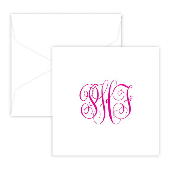 Henley Monogram Portrait Raised Ink Gift Enclosure Card