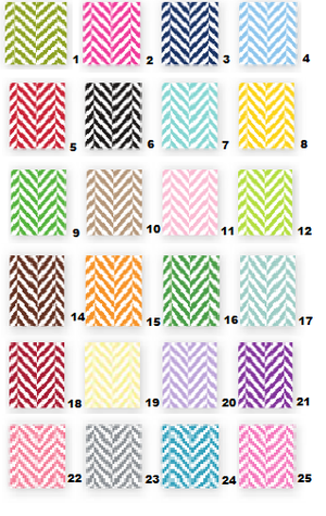 Herringbone Bag Tags Set (25 Colors)