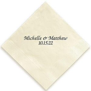 Chesterfield Foil-Pressed Napkin